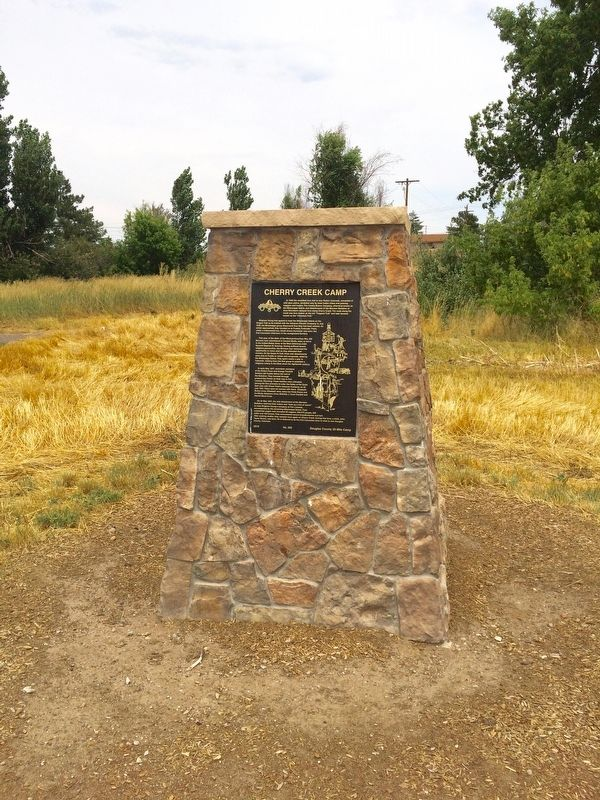 Cherry Creek Camp Marker image. Click for full size.