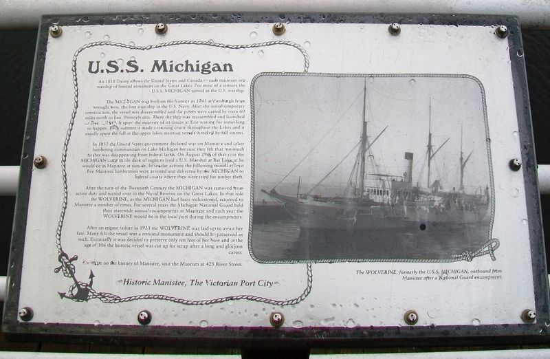 U.S.S. Michigan Marker image. Click for full size.