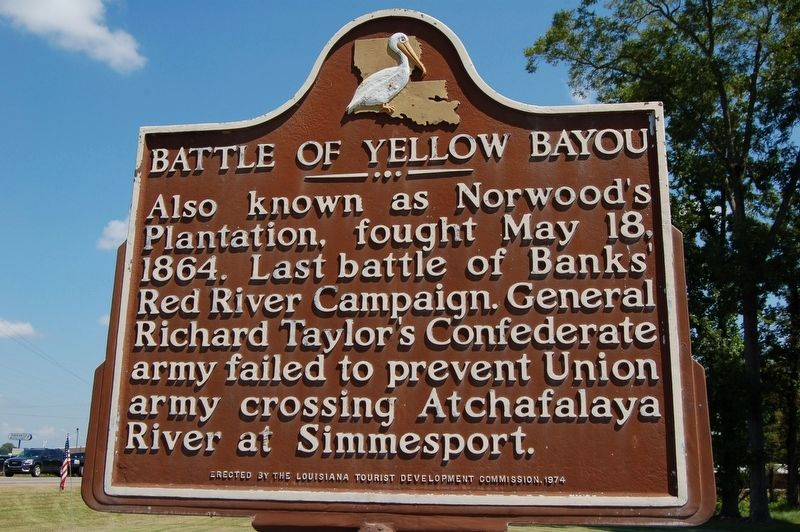 Battle Of Yellow Bayou Marker image. Click for full size.
