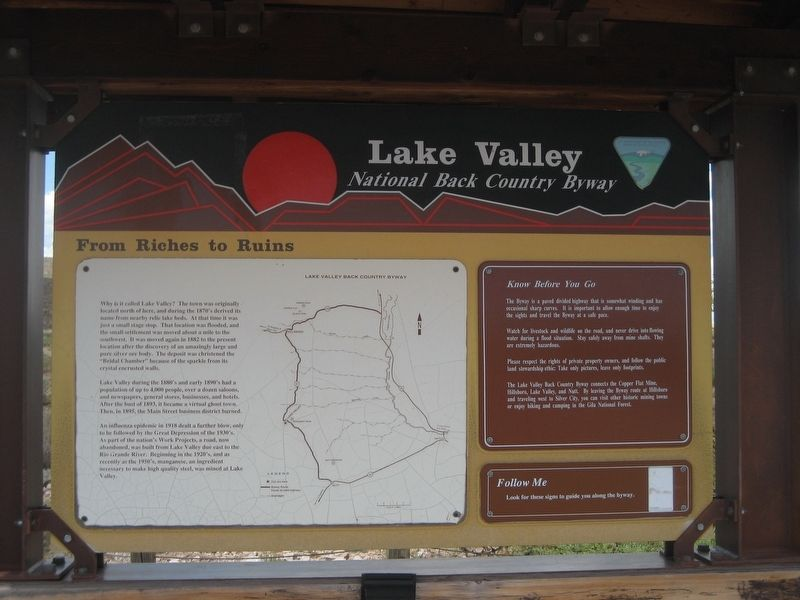 Lake Valley Marker image. Click for full size.
