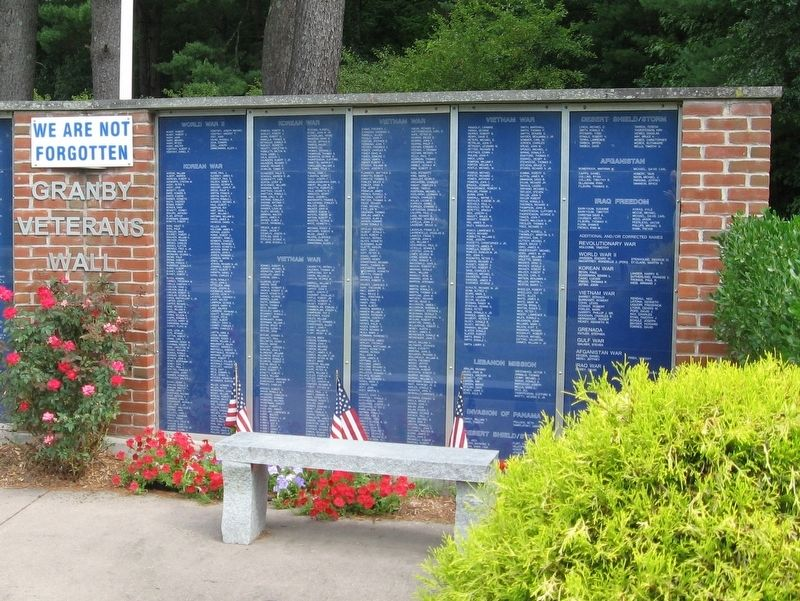 Granby Veterans Wall image. Click for full size.