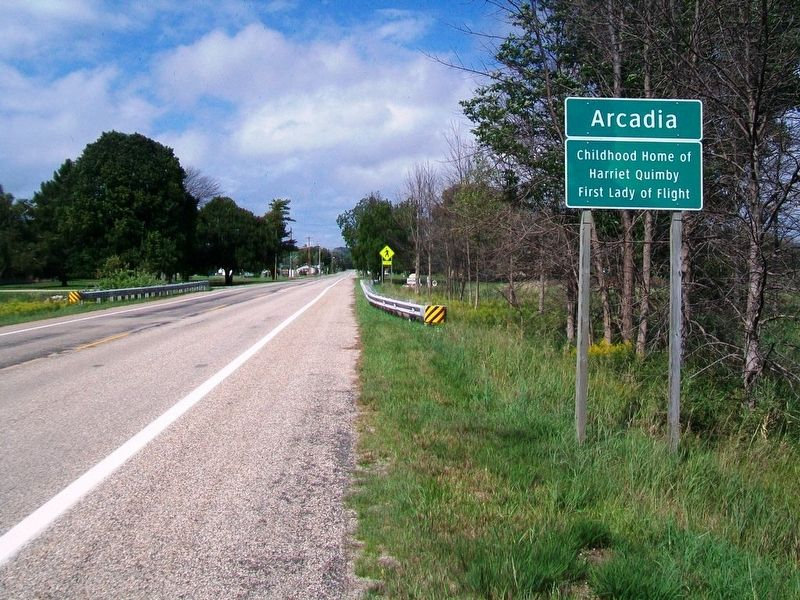 Arcadia City Limits Sign image. Click for full size.