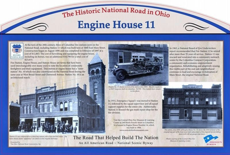 Engine House 11 Marker image. Click for full size.