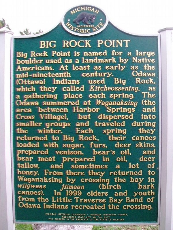 Big Rock Point Marker (Side A) image. Click for full size.