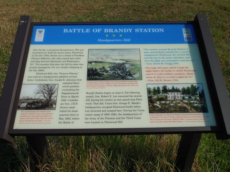 Battle of Brandy Station Marker image. Click for full size.