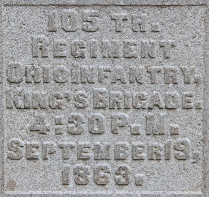 105th Ohio Marker image. Click for full size.