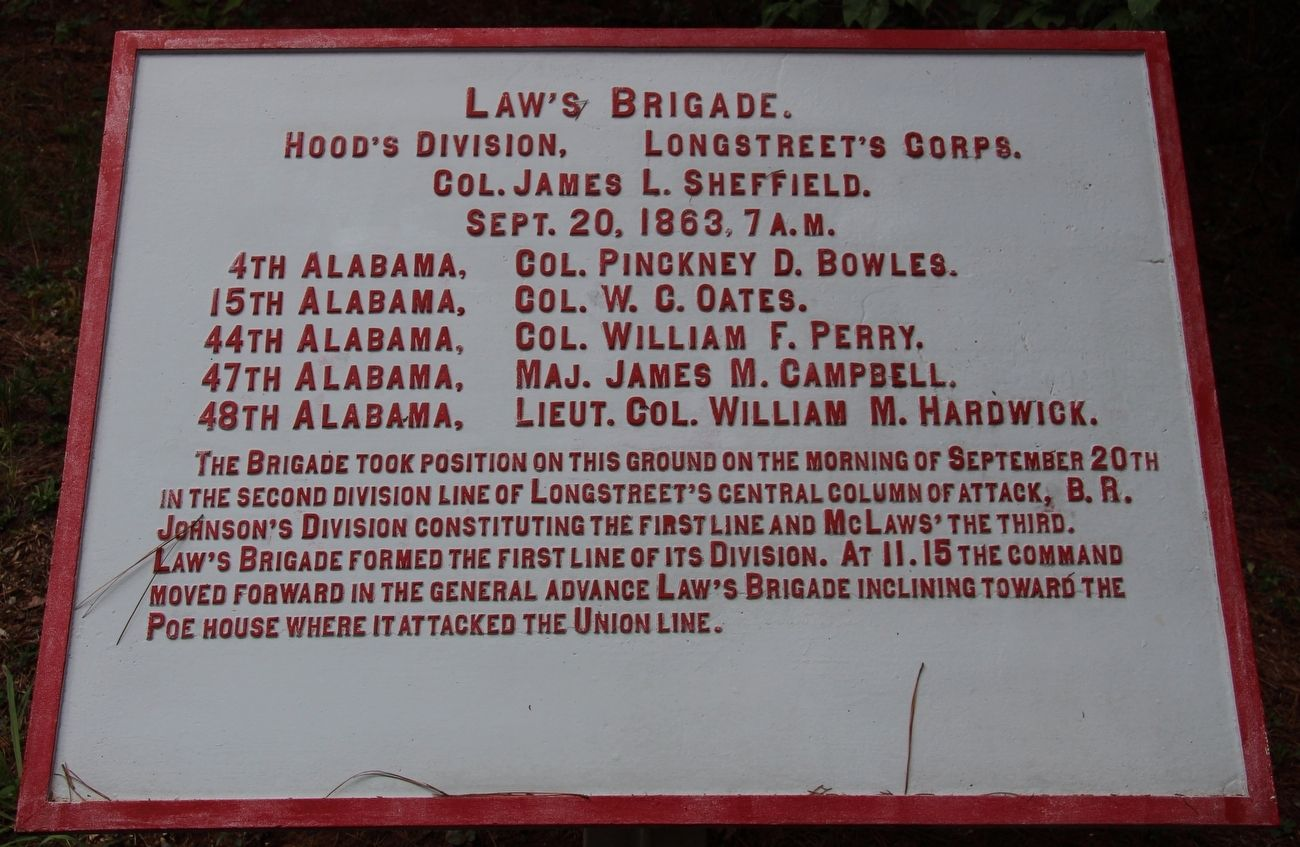 Law's Brigade Marker image. Click for full size.