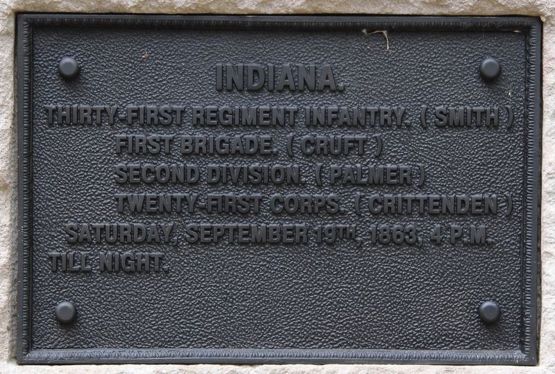 31st Indiana Marker image. Click for full size.