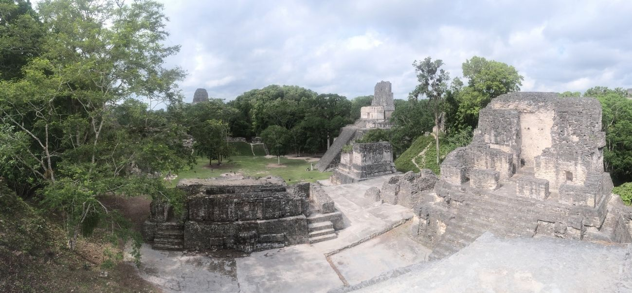 Temple II seen from the North Acropolis at Tikal image. Click for full size.