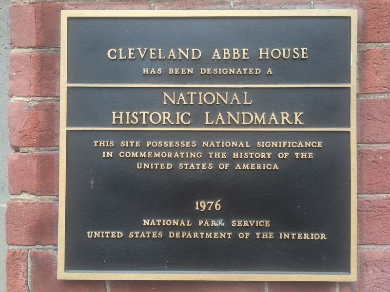 Cleveland Abbe House National Landmark 1976 marker image. Click for full size.