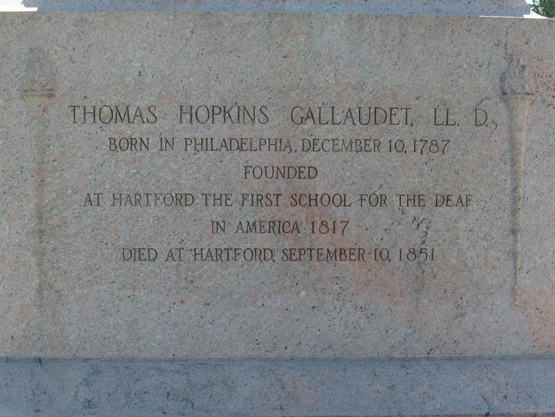 Thomas Hopkins Gallaudet Marker image. Click for full size.