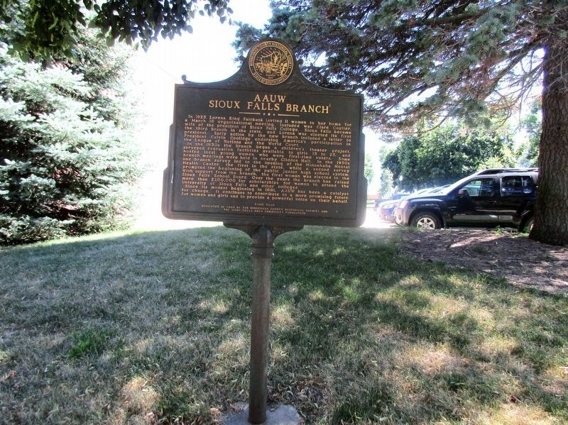 AAUW Sioux Falls Branch Marker image. Click for full size.