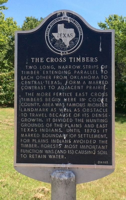 The Cross Timbers Marker image. Click for full size.
