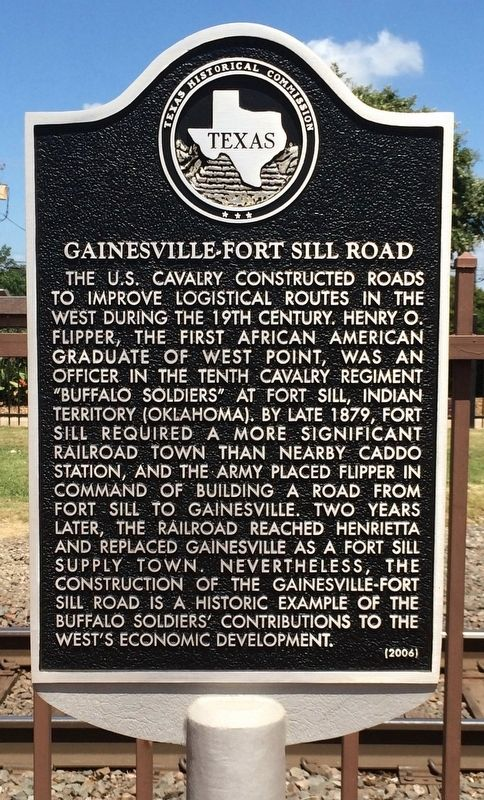 Gainesville-Fort Sill Road Marker image. Click for full size.