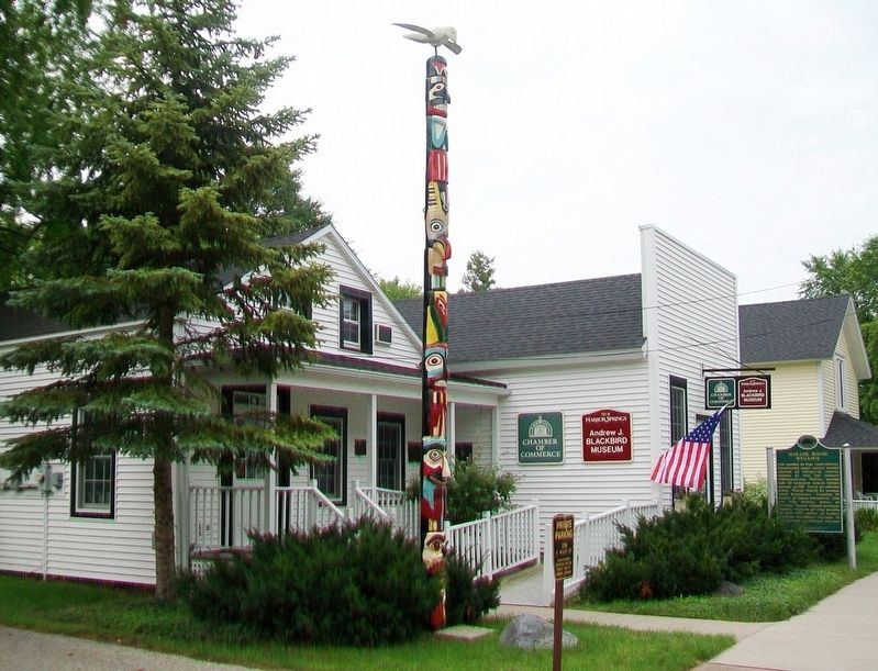 Andrew J. Blackbird House and Marker image. Click for full size.