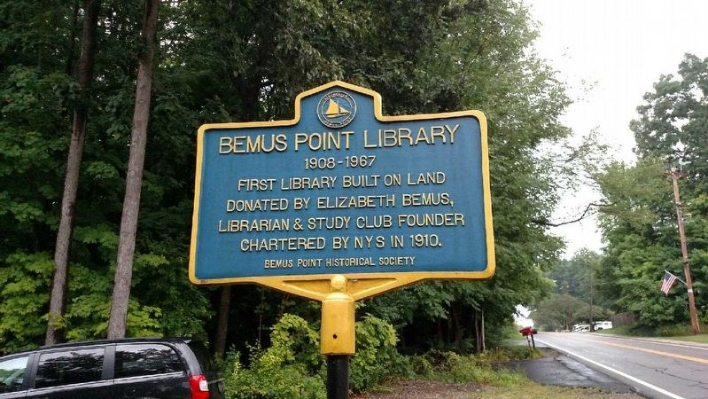 Bemus Point Library Marker image. Click for full size.