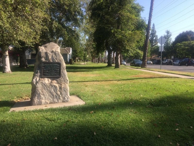 Site of First Lugonia District School Marker image. Click for full size.