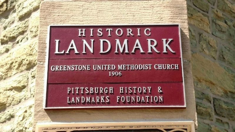 Greenstone United Methodist Church Marker image. Click for full size.