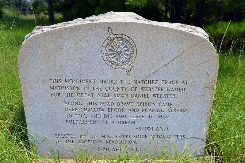 Natchez Trace at Mathiston Marker image. Click for full size.
