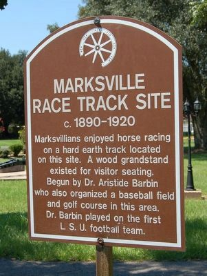 Marksville Race Track Site Marker image. Click for full size.