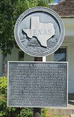 Robert A. Terrell Home Marker image. Click for full size.
