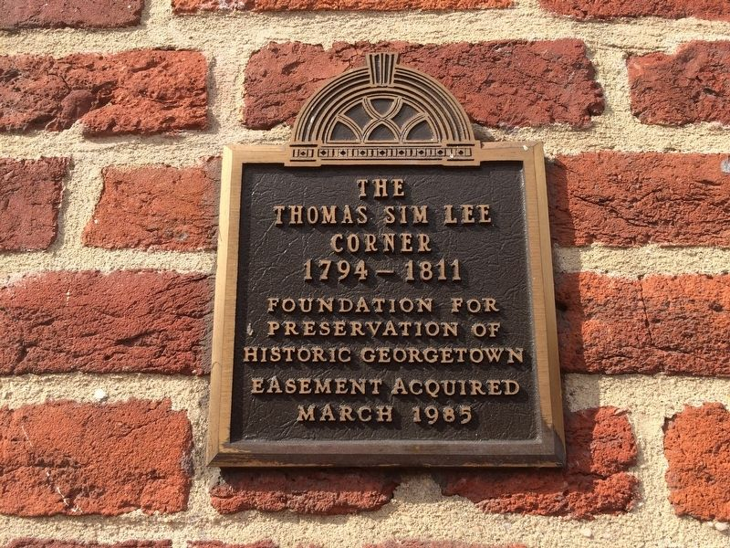 Thomas Sim Lee Corner Marker image. Click for full size.