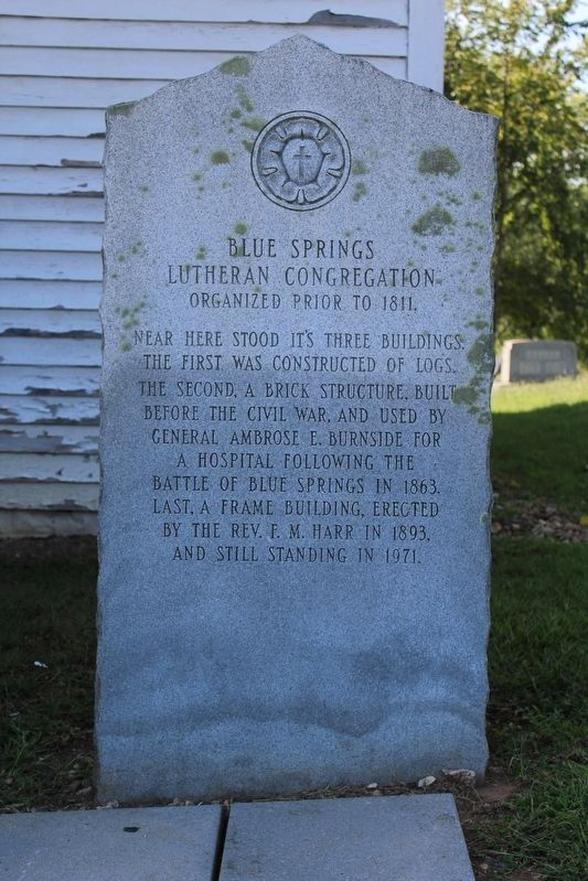 Blue Springs Lutheran Congregation Marker image. Click for full size.