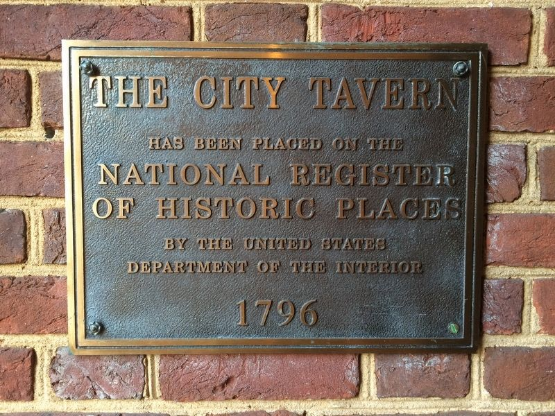 The City Tavern NRHP marker image. Click for full size.