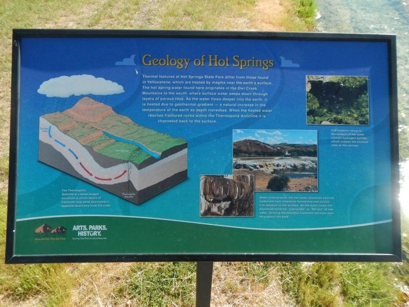 Geology of Hot Springs Marker image. Click for full size.