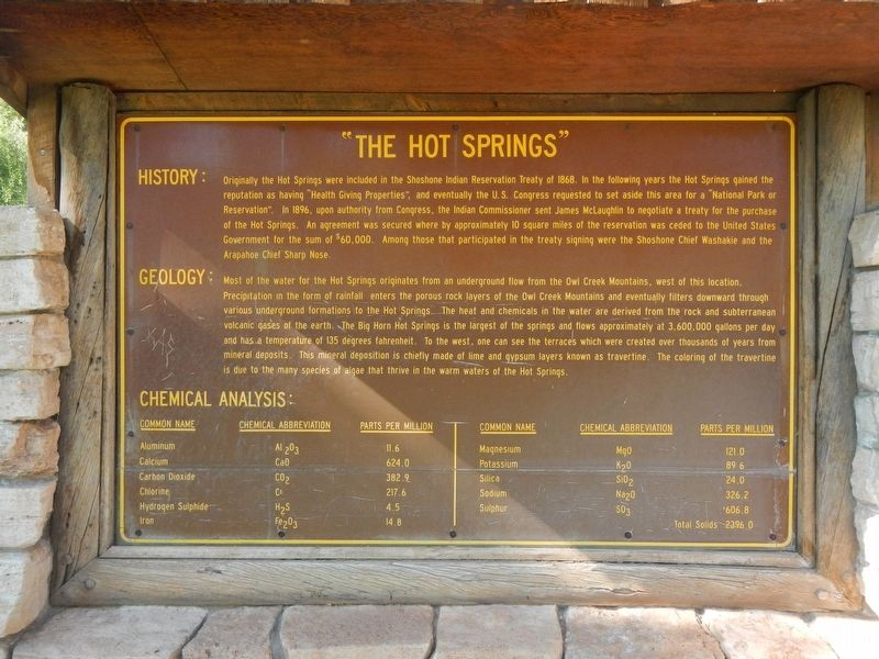 """The Hot Springs"" Marker image. Click for full size."
