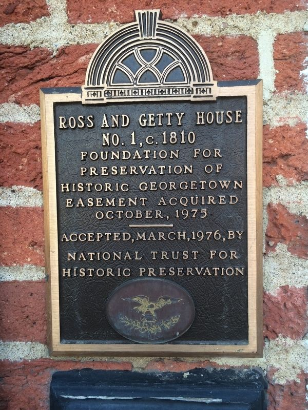 Ross and Getty House Marker image. Click for full size.