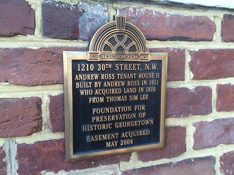 1210 30th Street Marker, Andrew Ross Tenant House II image. Click for full size.