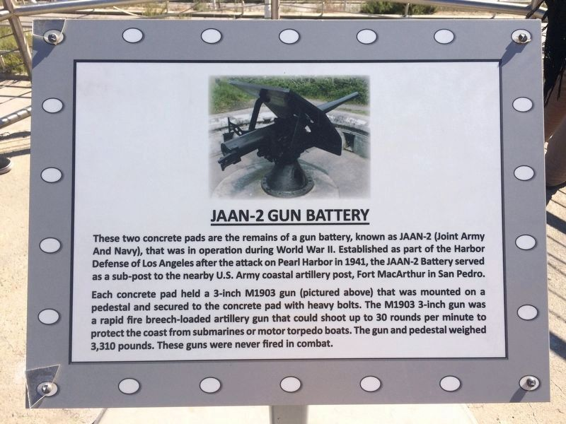 JAAN-2 Gun Battery (west) Marker image. Click for full size.