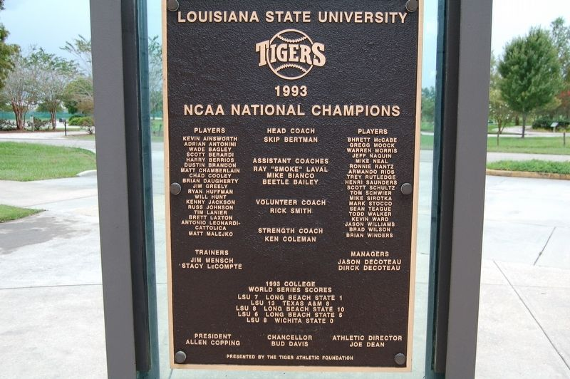 1993 National Champions Marker image. Click for full size.