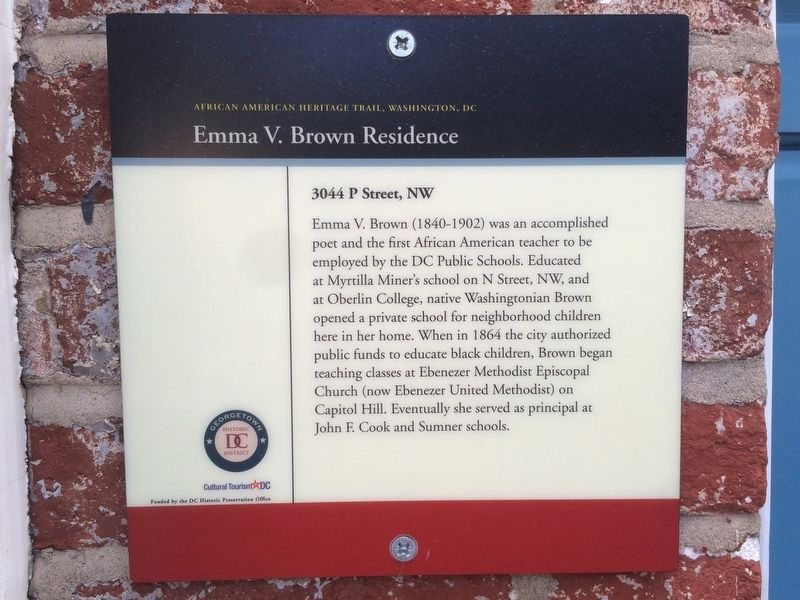 Emma V. Brown Residence Marker image. Click for full size.