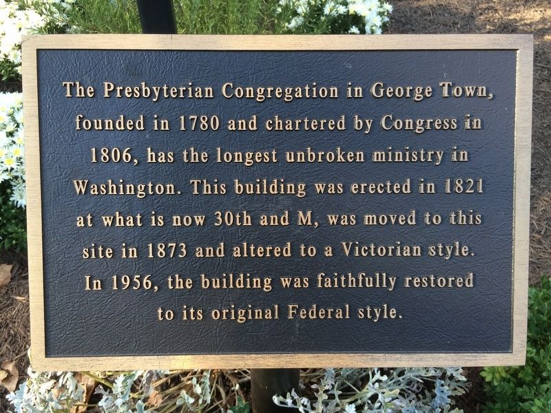 The Presbyterian Congregation in George Town, Marker image. Click for full size.