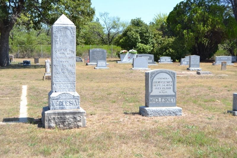 Grave (on Right) of John H. McCleskey image. Click for full size.