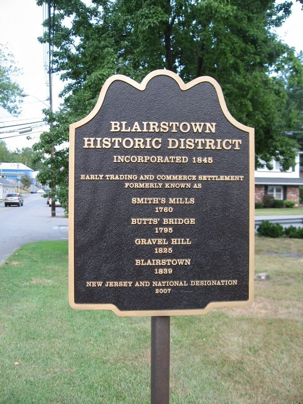 Blairstown Historic District Marker image. Click for full size.