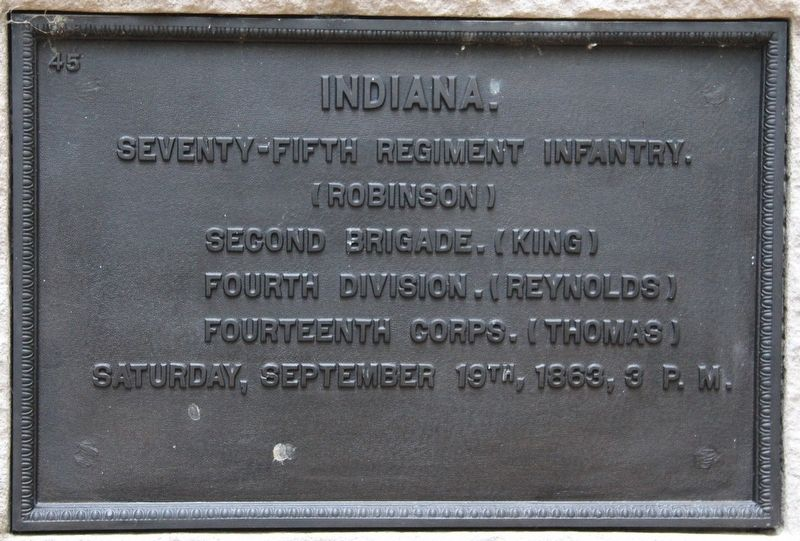 75th Indiana Infantry Marker image. Click for full size.