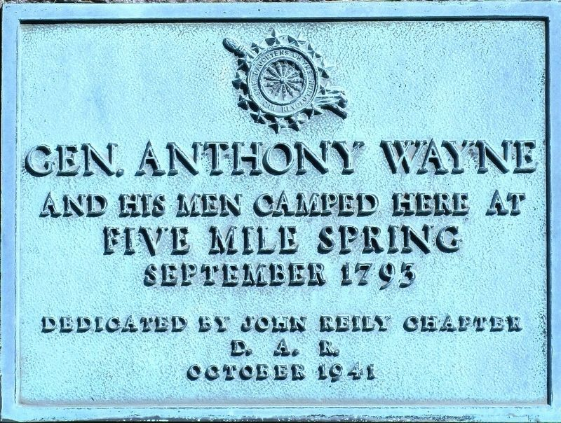 Gen. Anthony Wayne Marker image. Click for full size.