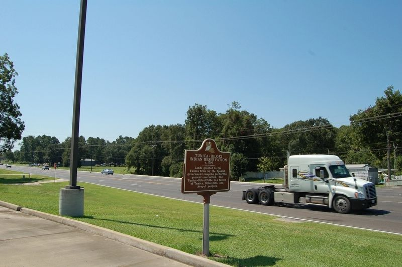 Tunica-Biloxi Indian Reservation Marker image. Click for full size.