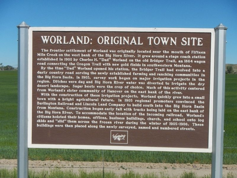 Worland: Original Town Site Marker image. Click for full size.