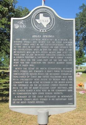 Ables Springs Marker image. Click for full size.