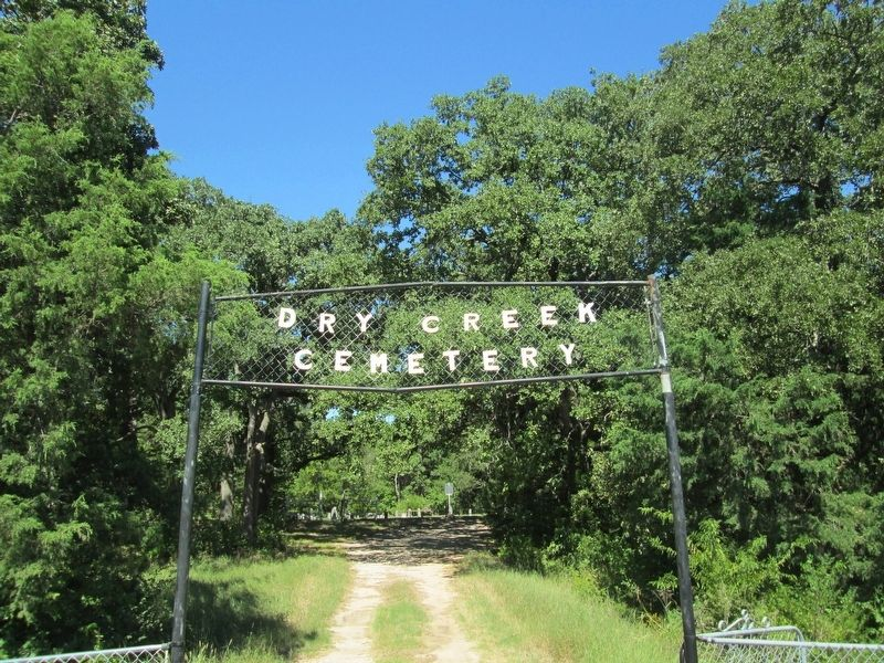 Dry Creek Cemetery Entrance image. Click for full size.