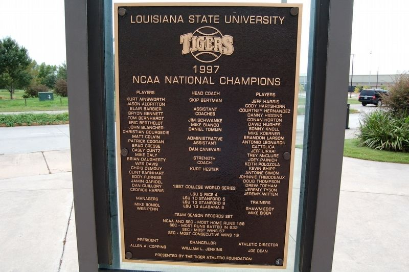 1997 National Champions Marker image. Click for full size.