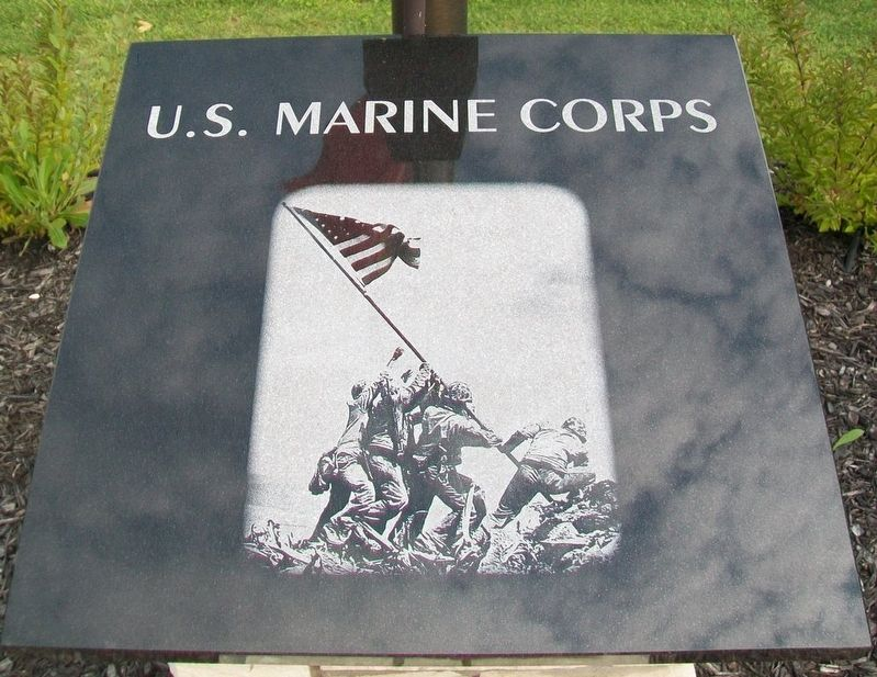 Veterans Memorial U.S. Marine Corps Marker image. Click for full size.