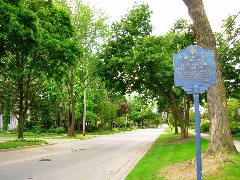 Glen Ellyn Main Street Historic District Marker image. Click for full size.