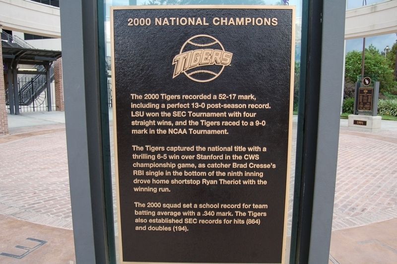 2000 National Champions Marker image. Click for full size.