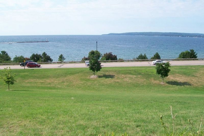 View of Little Traverse Bay from Ignatius Petoskey Monument image. Click for full size.