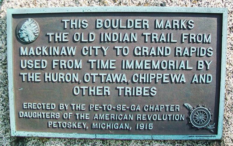 Old Indian Trail Marker image. Click for full size.